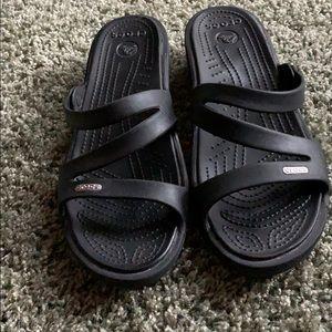 Crocs women's Patricia black wedge sandals